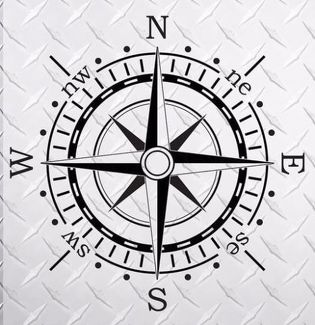 Compass 40 x 40  hood vinyl decal sticker fits to WRANGLER Rubicon