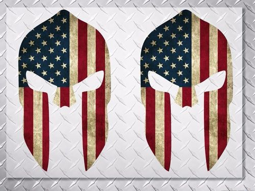 Molon LABE US USA FLAG spartan vinyl decal sticker 10  height 2 decals