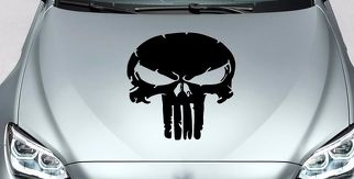 PUNISHER skull all hood side vinyl decal sticker for car track wrangler fj etc