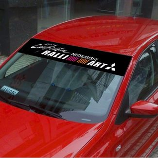Front Windshield Banner Decal Car Stickers for Mitsubishi SPORTS Emblems