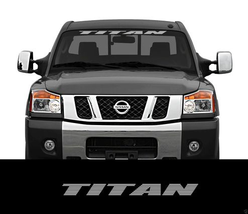 TITAN Nissan  Front Windshield Window Banner Decal Sticker titan nismo