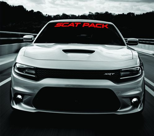Dodge Charger SCAT PACK Windshield Banner Decal 2011-2017 SRT MOPAR 392