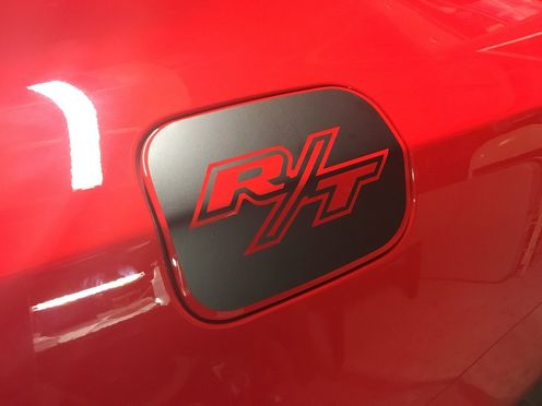 Dodge Charger R-T Gas Door Vinyl Overlay 2011+ Hemi Mopar Decal sticker 2015+