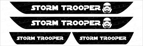 Dodge Charger  Storm Trooper  Vinyl Door Sill Decals 2006+ 2017 2016 2015 2014