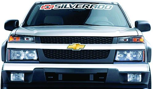 Chevrolet Chevy SILVERADO Windshield Banner Graphics Vinyl Decal Sticker