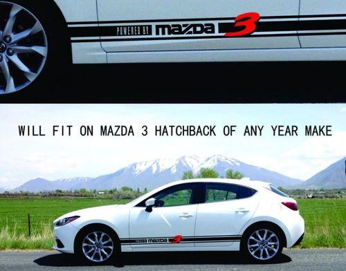Rock Panel Decal Stripes Passend für MAZDA 3 Sports Hatchback 2006 2007 2008 2009 bis 17