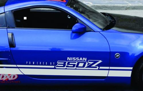 Racing Stripes Decal Fits NISSAN 350Z Touring Coupe Convertible ROCKER PANEL