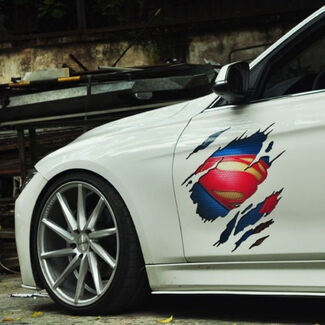 Car Sticker Superman Vinyl Auto hood door Decal sticker supdec