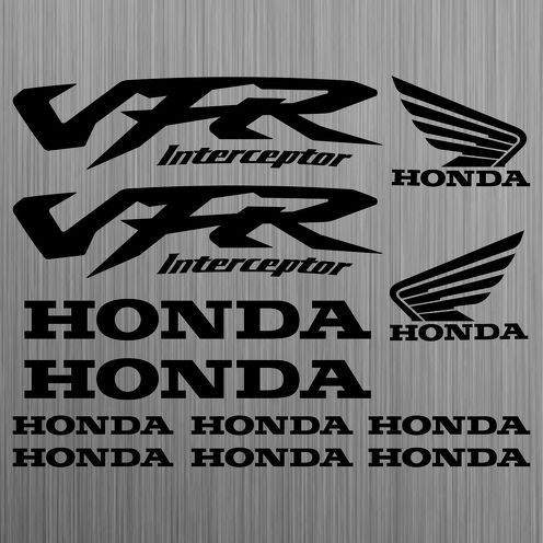 HONDA VFR Interceptor sticker decal motorcycle 12 Pieces