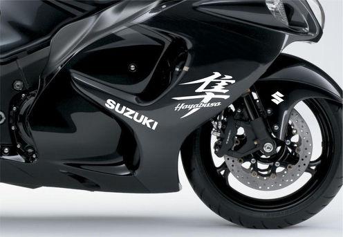 Weißer Suzuki Hayabusa Moto Aufkleber für Verkleidungsaufkleber Motorrad