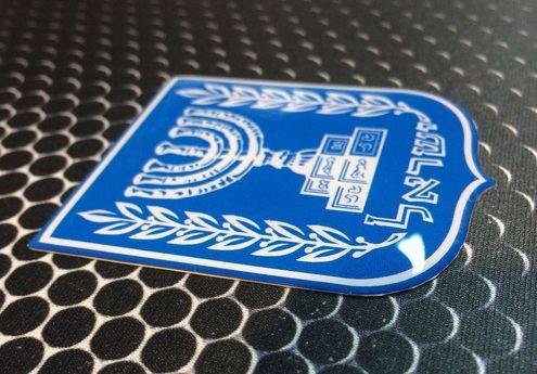 Israel Wappen Flaggenschild Stolz Domed Decal Emblem Autoaufkleber 3D 2.5x 2