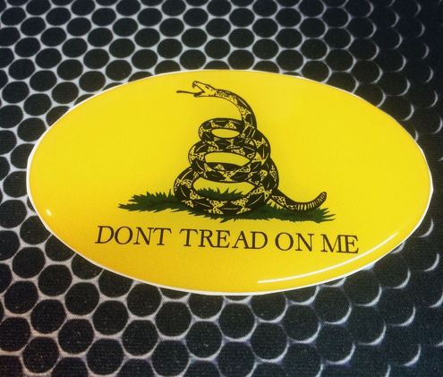 Dont Tread on Me Proud USA Shield Domed Decal Emblem Car Sticker 3D 3.25 x 2