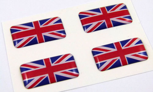 Great Britain mini domed decals set 4 emblems British Car bike boat  stickers