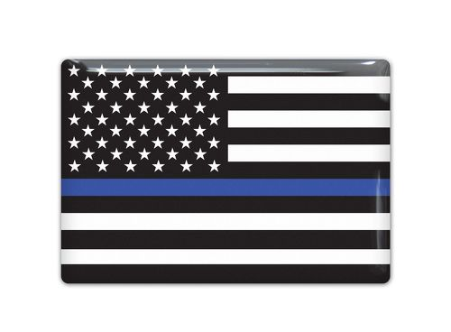 USA police Flag Emblem Proud Car Sticker 3D Domed Decal
