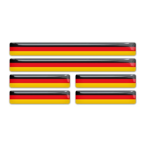 German Germany Flag domed sticker decal emblem BMW Mercedes VW Audi