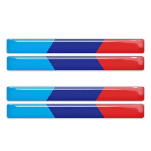 BMW M Power Performance colors domed stickers decal emblems