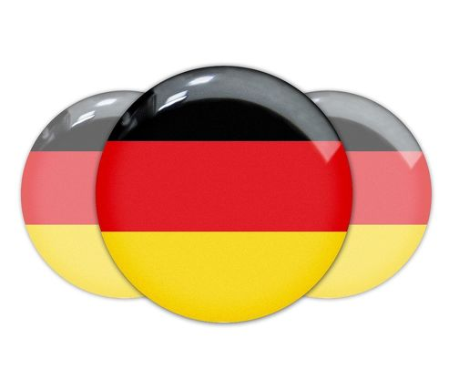 3pcs Germany German flag domed emblem decal stickers BMW Mercedes Porsche VW