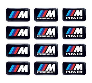 12pc BMW M Power Performance 3d gewölbte Aufkleber Aufkleber Emblem Rad Schlüsselanhänger