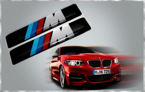 M PERFORMANCE BMW MOTORSPORT M2 M3 M4 M5 M6 M TECHNIC 3D GEL DOMED BADGES DECALS 1