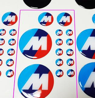 BMW M Power Performance 3d domed sticker decal emblems 14pcs