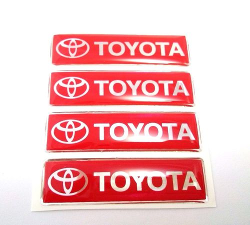 NEW 3D DOME TRD TOYOTA SPORTS RACING DEVELOPMENT RESIN BADGE STICKER RED DECAL