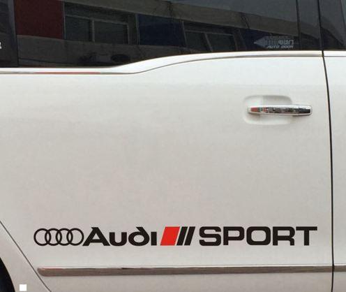 Racing Sport Car Sticker Aufkleber Vinyl passend für Audi Linie