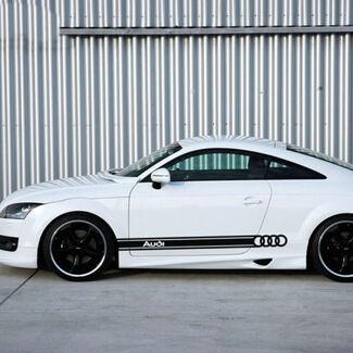 1 Paar Auto Styling Vinyl Auto Seitenschweller Auto Aufkleber Racing Streifen Aufkleber für Audi