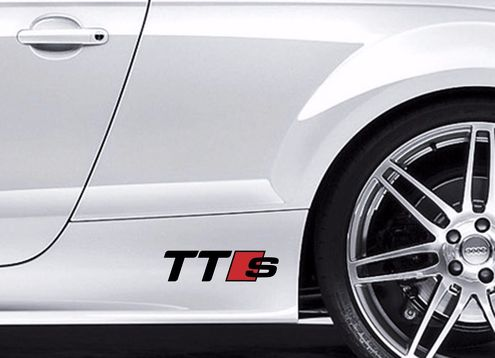 2X AUDI TTS Vinyl body Decal sticker Sport Racing emblem logo premium quality