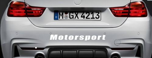 Motorsport Vinyl Decal Sticker sport car racing sticker emblem bumper logo WHITE