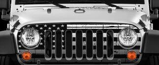 American Flag-Distressed Wrap Vinyl Skin Stical Jeep Wrangler