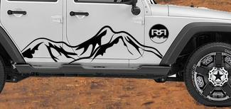 Jeep Decal | WRANGLER Side Hood Door Fender Window Decal rubicon sahara JK 4DR