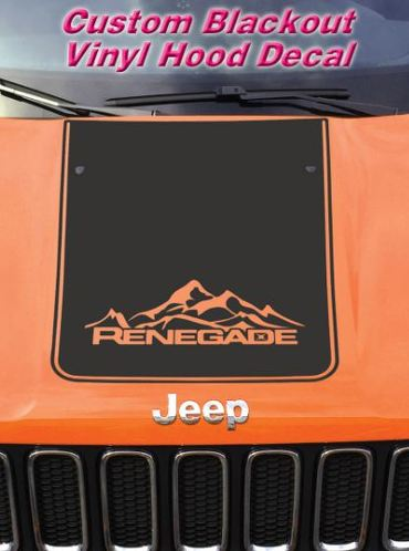 Jeep Renegade 2015 & 2016 Blackout Vinyl Hood Decal Ren_13