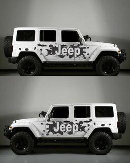 Jeep Side Splatter Body Decal Kit passend zum Jeep Wrangler Style