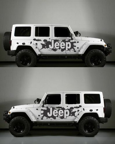 Jeep Side Splatter body decal kit to fit jeep wrangler style