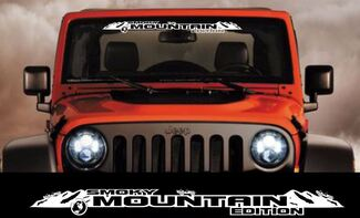 Smoky Mountain Edition windshield banner decal sticker fits jeep wrangler others