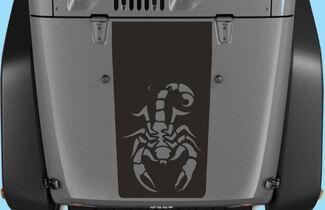 Jeep Aufkleber Jeep Wrangler Blackout Scorpion Vinyl Hood Aufkleber H114