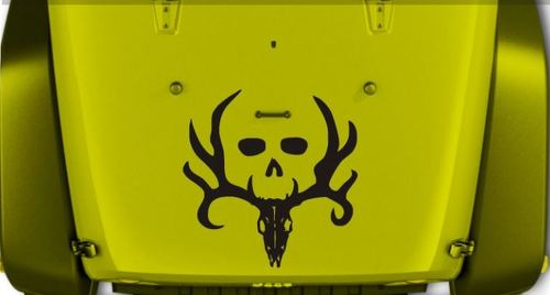 JEEP WRANGLER BONE COLLECTOR VINYL HOOD DECAL JK JKU LJ TJ 23 X 23
