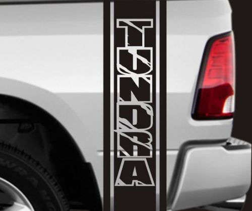 2 TRUCK BEDSIDE TOYOTA TUNDRA VINYL STRIPES DECALS APPROX 11  X 46  EACH