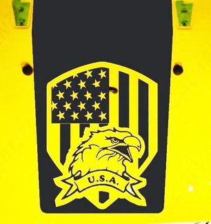 Jeep Wrangler Blackout Amerikanisches Abzeichen Eagle USA Vinyl Hood Aufkleber TJ LJ JK JKU