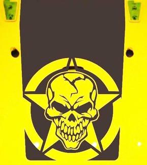 Jeep Wrangler Blackout Militärschädel Stern 5 Vinyl Haube Aufkleber JK JKU LJ TJ