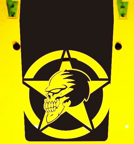 Jeep Wrangler Blackout Military Skull 1 Vinyl Hood Decal Sticker JK JKU LJ TJ