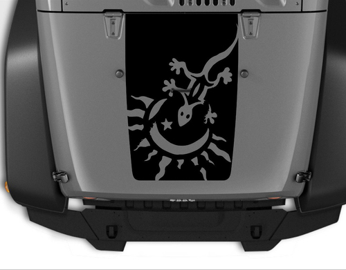 Hood Gecko Blackout Decal  Decals Vinyl Graphic JEEP WRANGLER JK