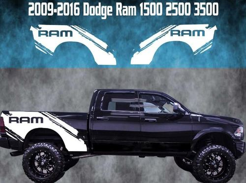 2009-2016 Dodge Ram Splash Vinyl Decal Graphic Truck Bed Stripes 1500 2500 3500