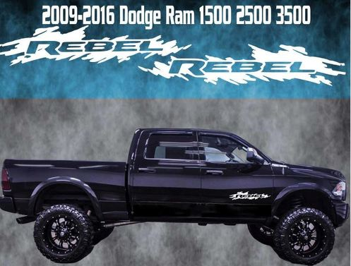 2009-2016 Dodge Ram Rebel Door Badge Vinyl Decal Graphic Truck 1500 2500 3500