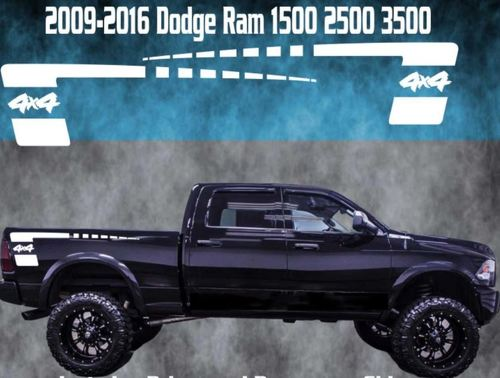 2009-2016 Dodge Ram Vinyl Decal Graphic Truck Bed Stripes Hemi Hockey 4x4 Strobe
