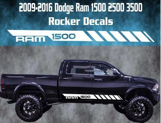 2009-2016 Dodge Ram Rocker Stripe Vinyl Decal Graphic Racing 1500 Rebel Hemi