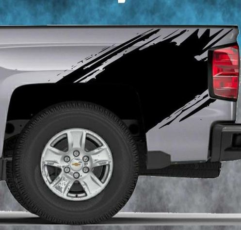2014 2015 2016 Chevy Silverado Vinyl Decal Sticker Splash Graphic Stripe Wrap
