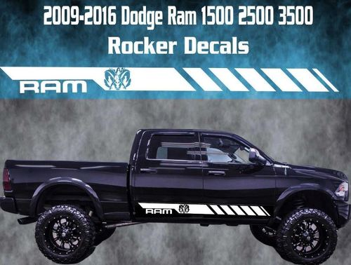 2009-2016 Dodge Ram Rocker Stripe Vinyl Decal Graphic Racing Rebel Nude Girl