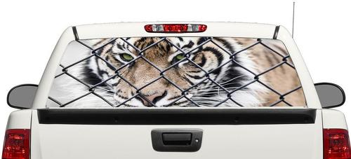 Tiger Animal  Rear Window Decal Sticker Pick-up Truck SUV Car
