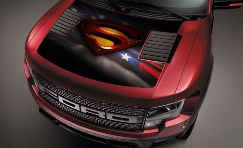 Ford Raptor F-150 Hood Graphics Super Man America Vinyl Decal